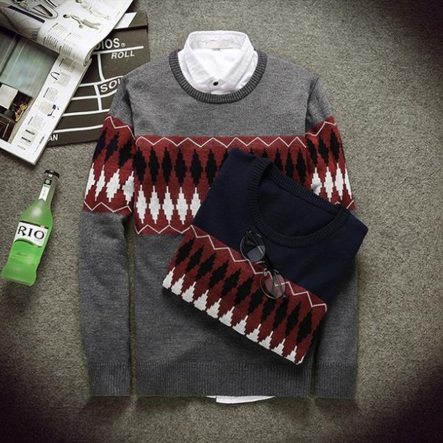 圓領套頭韓版秋季新款長袖針織衫絲光棉薄款日系小版
