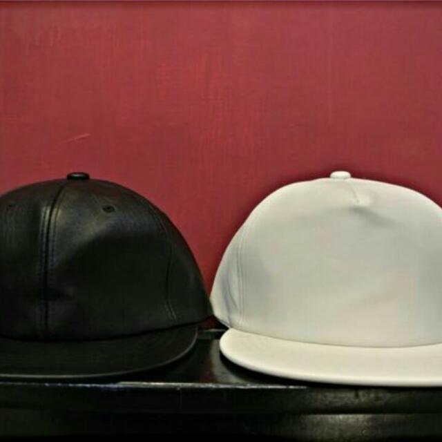 (保留)皮革棒球帽 黑色