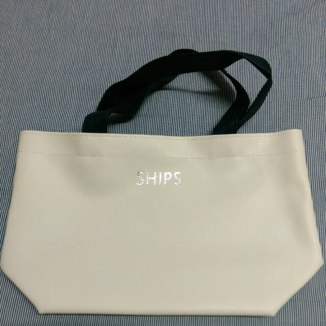 雜誌✨ SHIPS 白色小提包