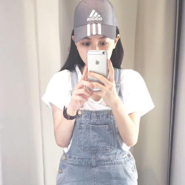 Adidas灰色 棒帽