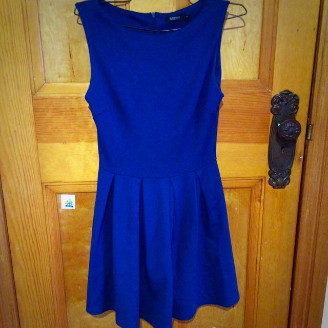 Blue Dress Size 6 S Maxim
