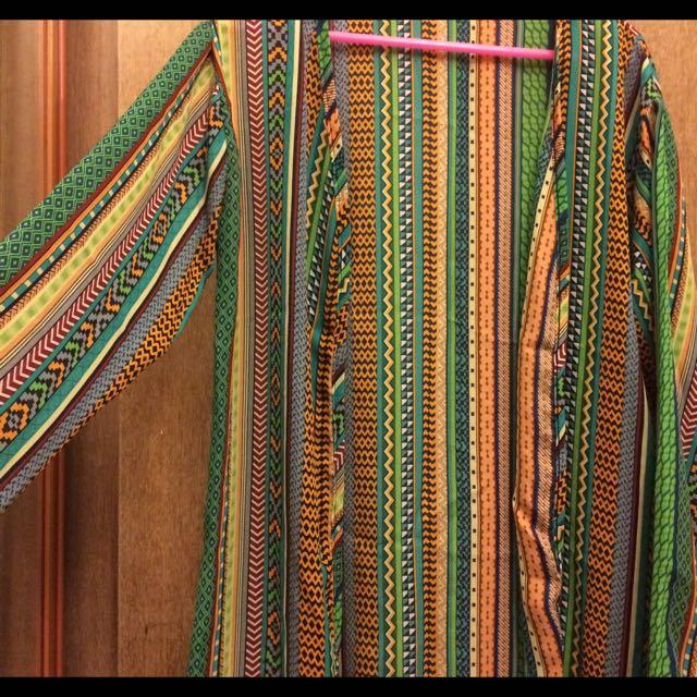 ✨(BN) Aztec Chiffon Colorful Kimono