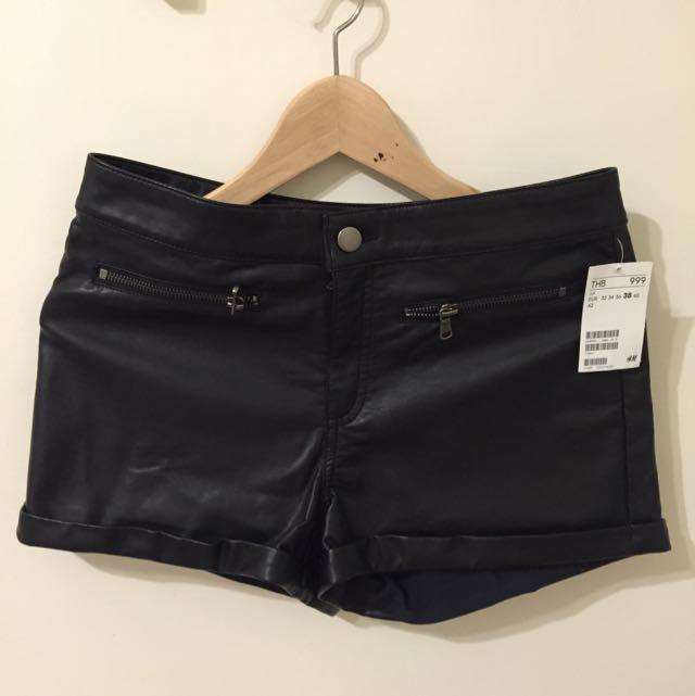 全新H&M皮褲