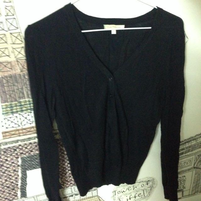 (保留中)lativ黑色針織薄外套