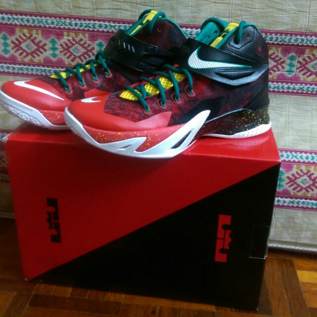 wholesale dealer d2ba2 fe64e Nike Lebron Soldier 8 (Christmas Edition) Basketball Shoe