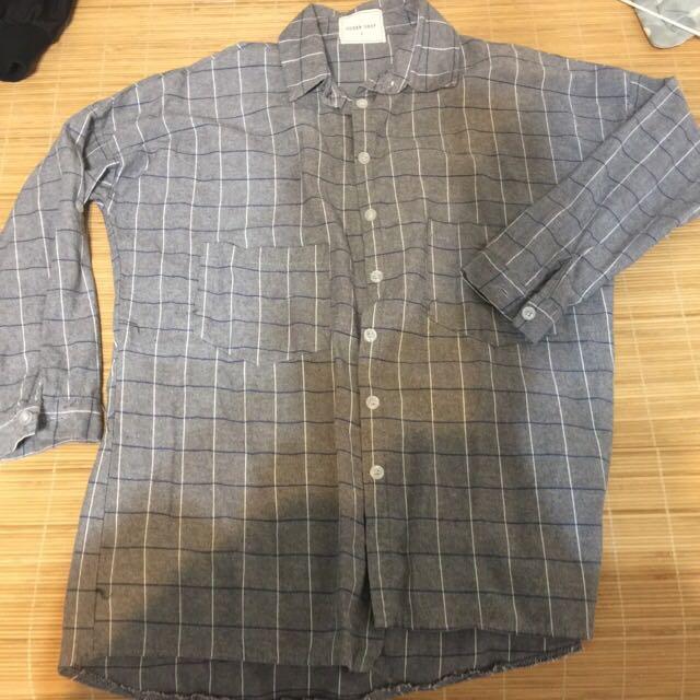 QS格紋襯衫