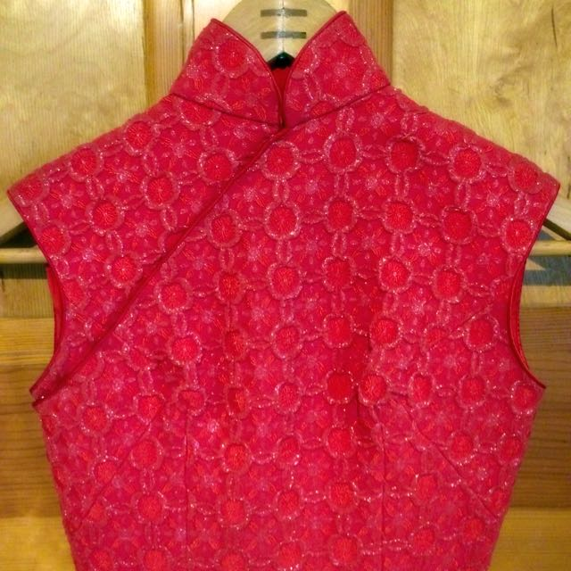 Vintage Red Bodycon Dress Size 6 S XS