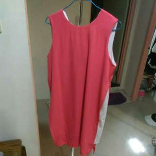 正韓紅洋裝