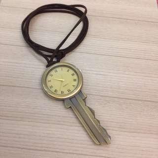 Freedom 日系街頭古著感復古懷舊鑰匙錶長鍊