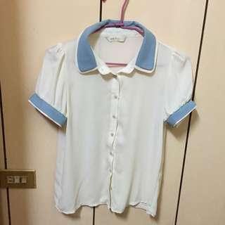 正韓雪紡襯衫