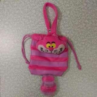 (保留中)正版迪士尼 愛麗絲的笑笑貓 手提束袋