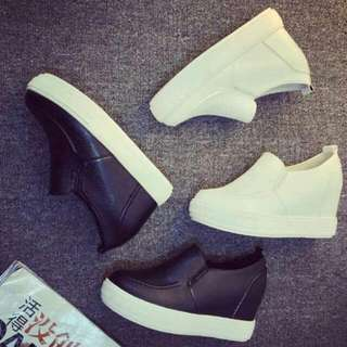 (PREORDER) SFS 277032-71 Wedges Loafers - Black | White