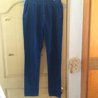 全新✨Pazzo深藍男友褲