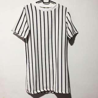 Tshirt Dress (Black&White)
