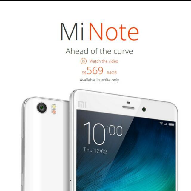 (22 Sep Price Drop) Brand NEW Mi Note 64GB White