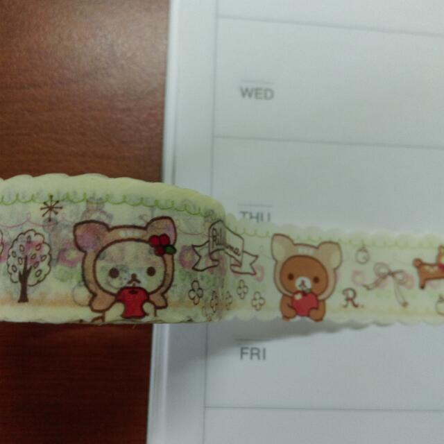 全新花邊紙膠帶/拉拉熊