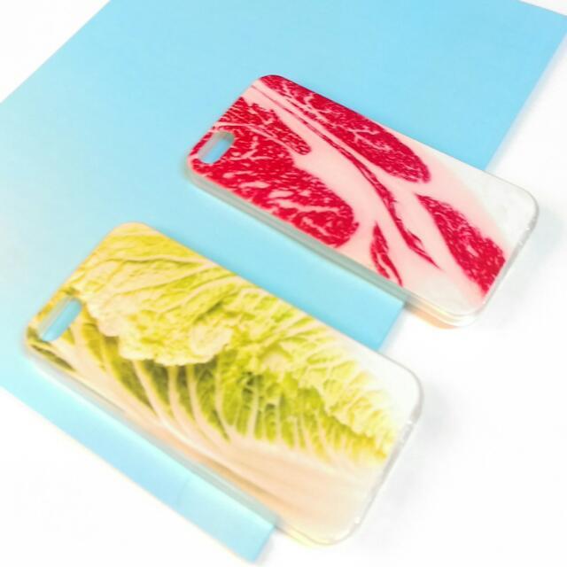 😱超級逼真手機殼牛肉片/蔬菜