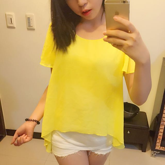 亮黃雪紡衣✨✨