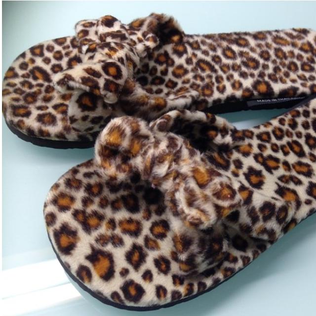 零碼出清【全新秋冬】《豹紋毛巾拖》 非夾腳 室內拖 涼鞋 (大人款)