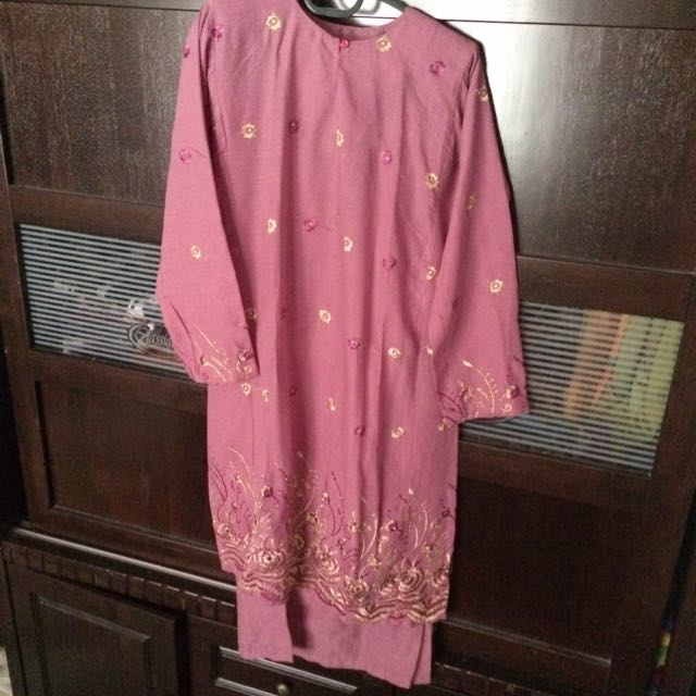 Baju Kurung (Dusty/Pastel Purple) 🌸