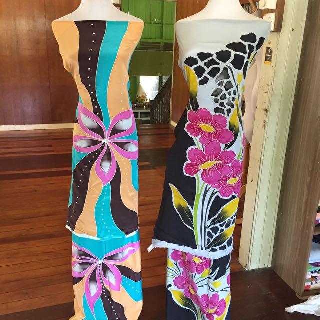 Batik Sutera Crepe, Fesyen Muslimah Di Carousell