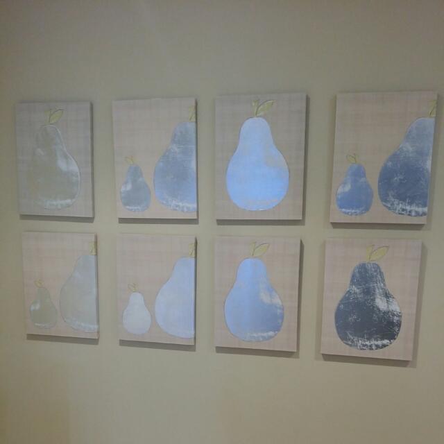 Decorative Pear Canvas Wall Art