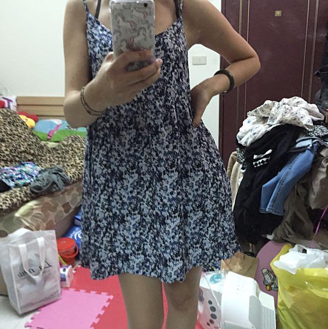 全新HM碎花洋裝