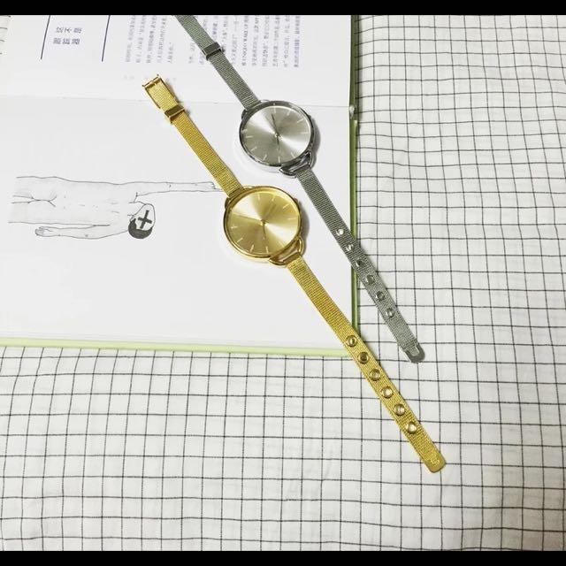 金銀simple簡約金屬感錶