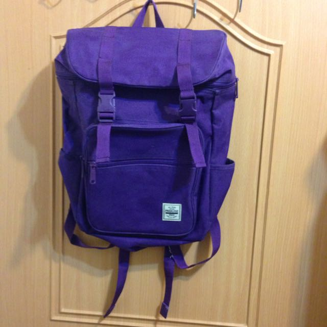 (保留中)含運-韓國SPAO後背包*紫