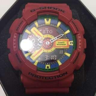 G-shock 紅色樂高