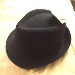 Zara 深藍色紳士帽全新未帶過