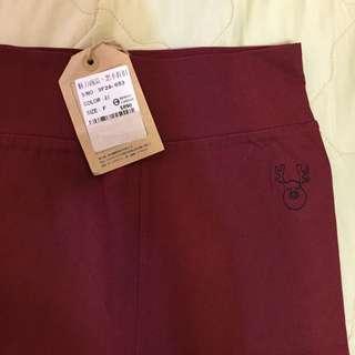 全新 🇺🇸藍鹿 酒紅色鉛筆褲