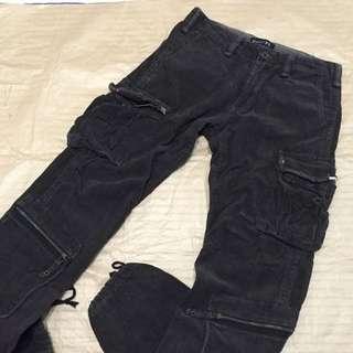 Paper 破壞設計多口袋工作褲(咖啡)