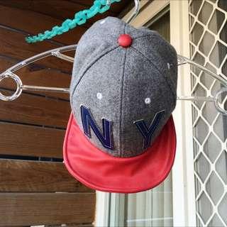 【二手】韓製帽沿可彎折毛呢棒球帽