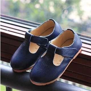 軟皮娃娃鞋-全新 藍色款14公分