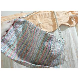 編織籐包 兩用側背肩背包