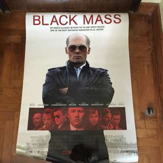 Black Mass Double Sided Movie Poster