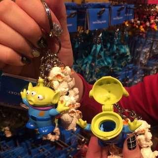 日本東京海洋迪士尼三眼怪鑰匙圈