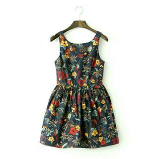 Dress in Floral Print