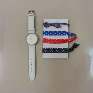 璀璨之星 經典純白手錶