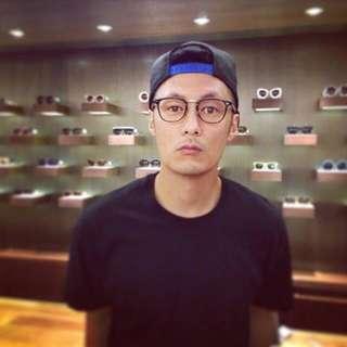 余文樂款眼鏡框 黑色金屬質感鏡架