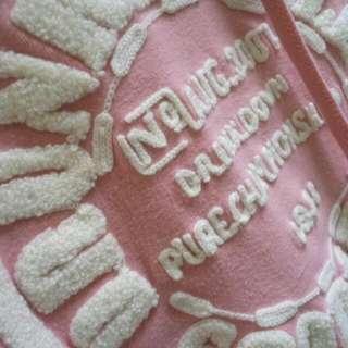 粉色休閒帽T