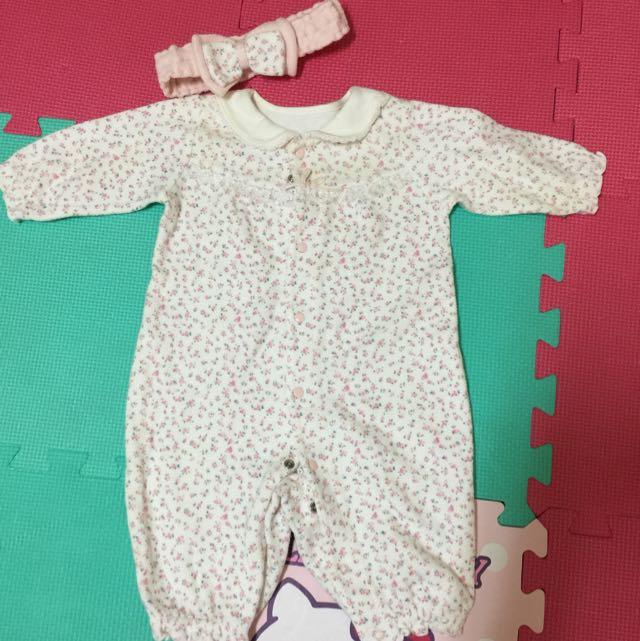 麗嬰房可愛粉色連身衣(保留