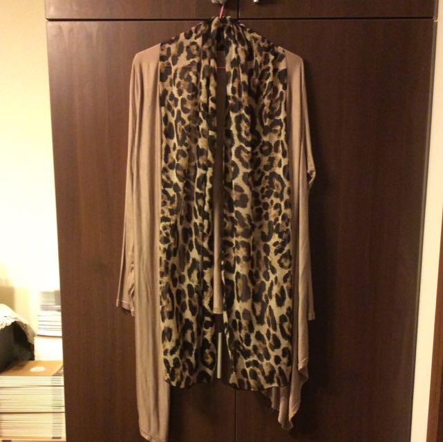 前短後長薄長袖外套9.5成新