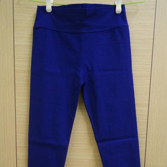 寶藍內搭貼腿褲