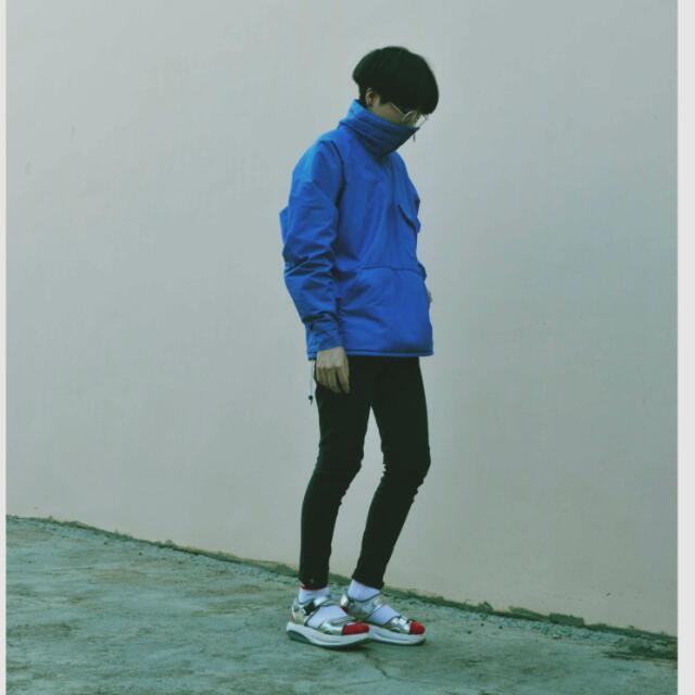 🎌日本購入古着 藍色防風運動上衣