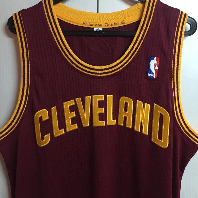 Cleveland Cavaliers Adidas Authentic NBA Revolution 30 Jersey size L ... e9d3e4a4d