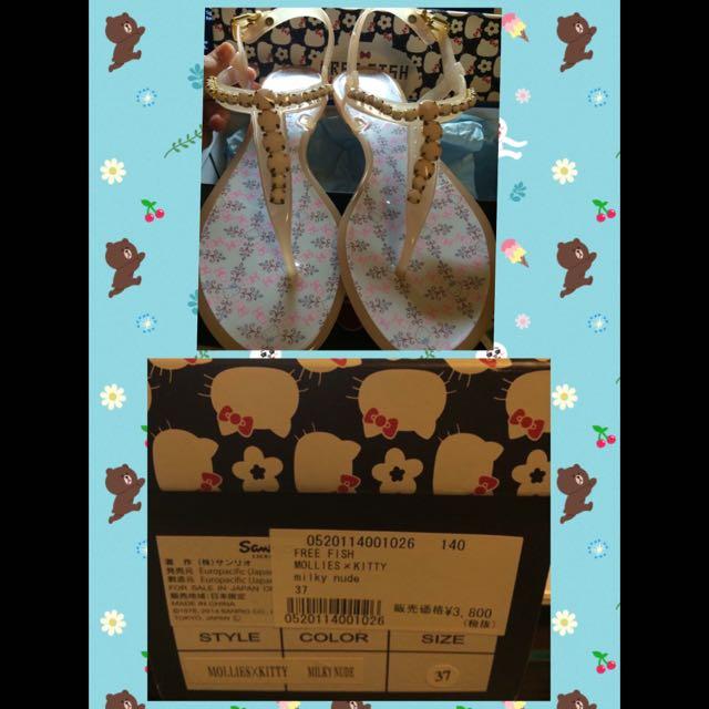 FREEFISH x Hello Kitty限定款果凍膠鞋