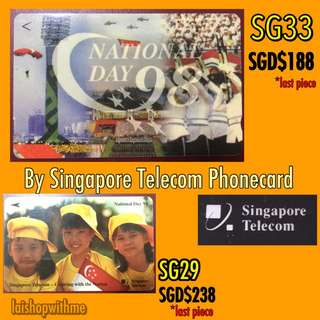 SG29 & SG33 Singapore National Day Phonecards