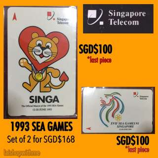 1993 SEA GAMES Phonecard By Singapore Telecom